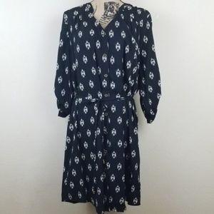 41 Hawthorne Women's Rolled Strap Sleeve Dress XL